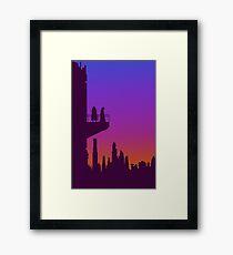 Coruscant Twilight Framed Print