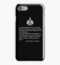 Nothing is True, Everything is Permitted (White Lettering) iPhone Case/Skin
