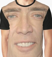 Nicholas Cage Face Pattern Graphic T-Shirt
