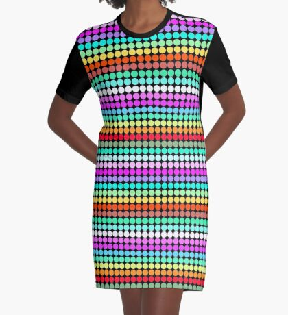 Stripey Polka dots 001 Graphic T-Shirt Dress