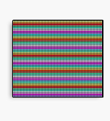 Stripey Polka dots 001 Canvas Print
