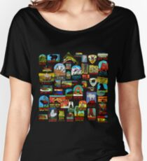 National Parks Vintage Travel Decal Bomb Women's Relaxed Fit T-Shirt