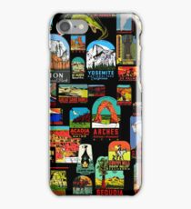 National Parks Vintage Travel Decal Bomb iPhone Case/Skin
