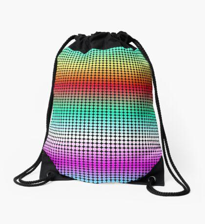 Rainbow Polka Dots Drawstring Bag