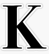 Letter K: monogram initial Sticker