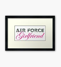 Air Force Girlfriend Framed Print