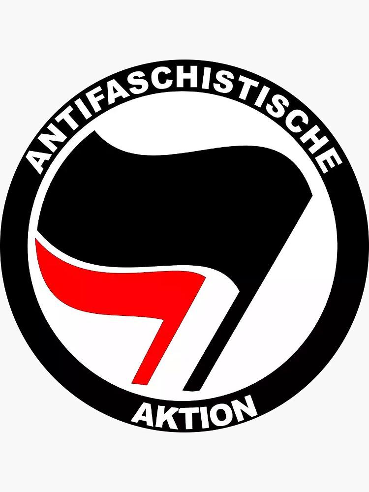 Antifascist Action Sticker by kijo98