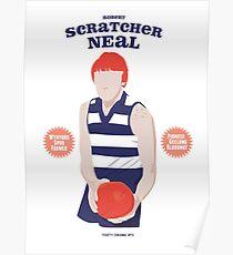 Robert Scratcher Neal - Geelong (for white shirts only) Poster