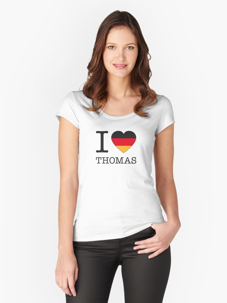 I ♥ THOMAS Women's Fitted Scoop T-Shirt Front