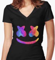 Marsh Alone Women's Fitted V-Neck T-Shirt