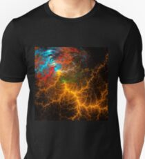 Fractal art. A flash of lightning. Unisex T-Shirt