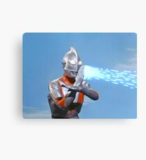 Ultraman ! Here he comes from the sky.... Canvas Print
