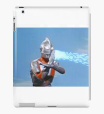 Ultraman ! Here he comes from the sky.... iPad Case/Skin