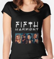 Fifth Harmony Portrait #WhiteText Women's Fitted Scoop T-Shirt