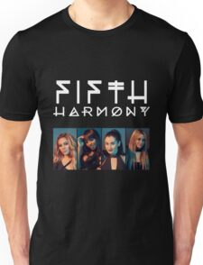 Fifth Harmony Portrait #WhiteText Unisex T-Shirt