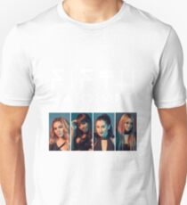 Fifth Harmony Portrait #WhiteText T-Shirt