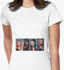 Fifth Harmony Portrait #WhiteText Womens Fitted T-Shirt