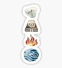 Avatar the Last Airbender Element Symbols Sticker