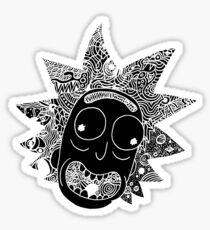 Rick (black) Sticker