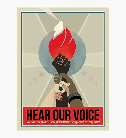 women's march on washington high resolution poster Photographic Print