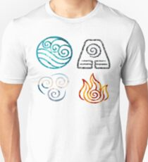 Camiseta ajustada Avatar the Last Airbender Element Symbols