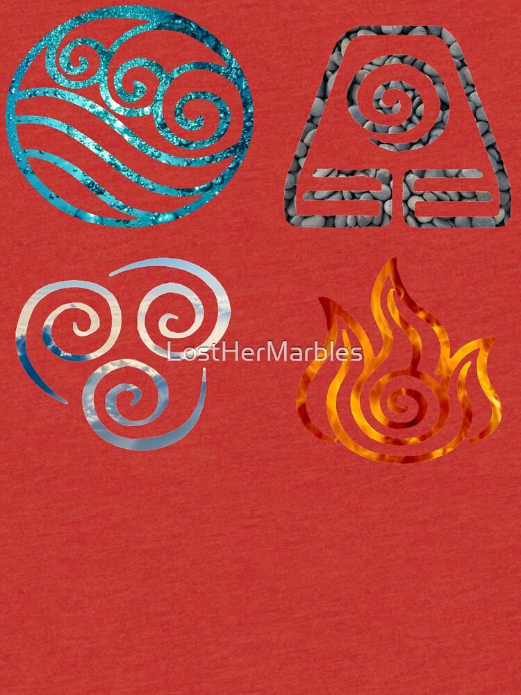 Avatar The Last Airbender Element Symbols Tri Blend T Shirt By