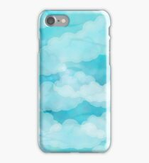 Blue Sky White Clouds Summertime Cloudy Skies Art iPhone Case/Skin