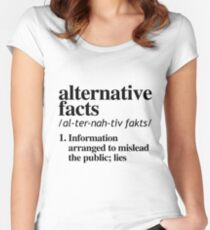 Alternative Facts Definition Women's Fitted Scoop T-Shirt