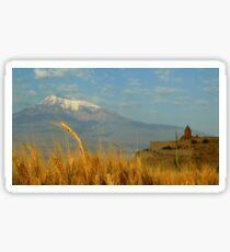 Wheat fields of Khor Virap Sticker