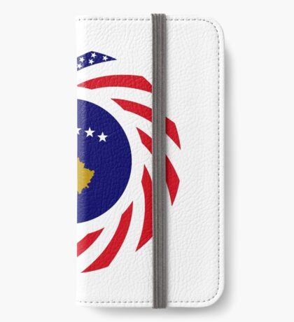 Kosovar American Multinational Patriot Flag Series iPhone Wallet