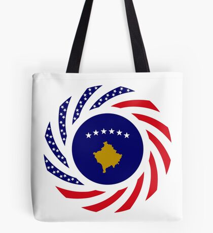 Kosovar American Multinational Patriot Flag Series Tote Bag