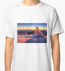 Winter sunset in the Alps Classic T-Shirt