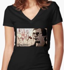 Dahmer Women's Fitted V-Neck T-Shirt