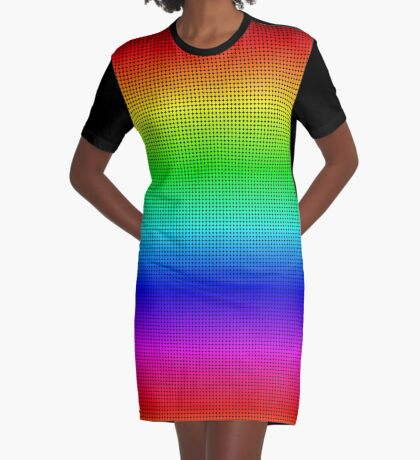 Another rainbow created with Processing Graphic T-Shirt Dress