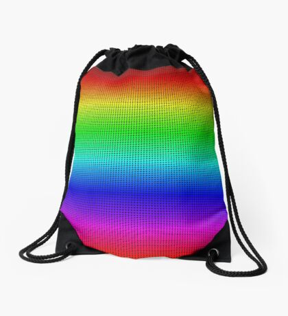 Another rainbow created with Processing Drawstring Bag