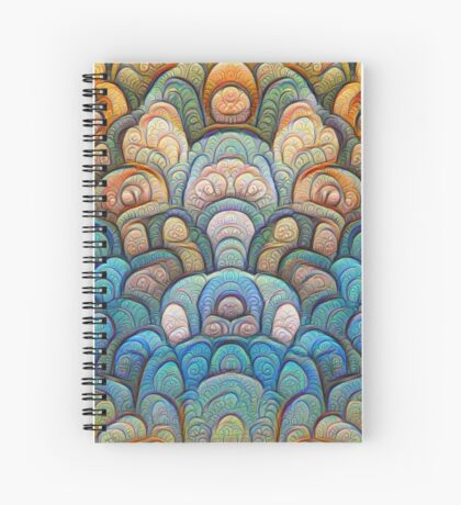 Autumn forest at sunset #DeepDream #Art Spiral Notebook