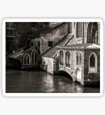 Medieval Architecture Of Bruges Sticker