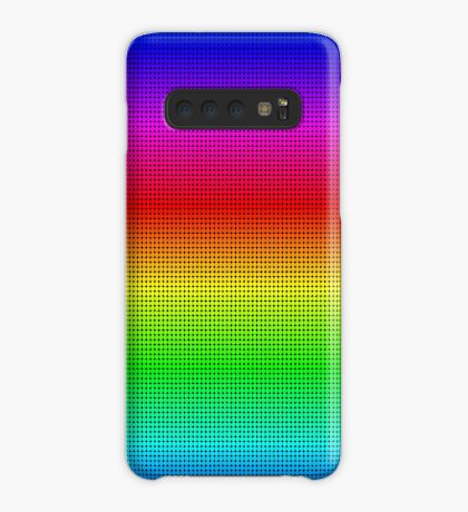 Rainbow Polka dots 002 Case/Skin for Samsung Galaxy