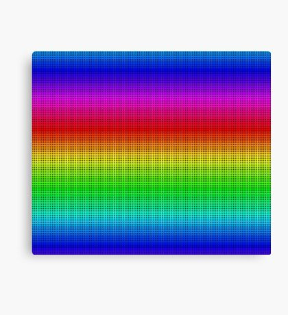 Rainbow Polka dots 002 Canvas Print