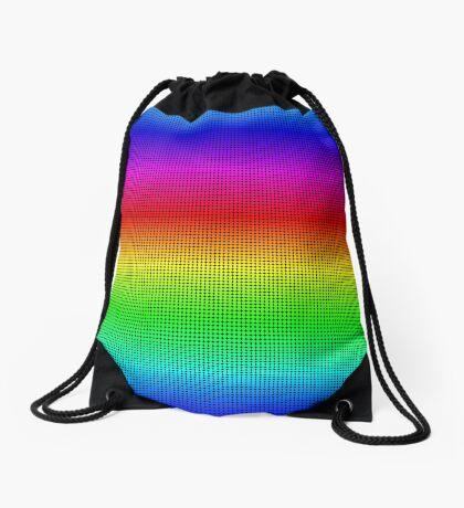 Rainbow Polka dots 002 Drawstring Bag