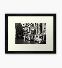 Medieval Architecture on the Canal - Bruges Framed Print