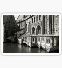 Medieval Architecture on the Canal - Bruges Sticker