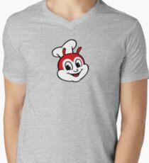 Classic Jollibee fast food logo Men's V-Neck T-Shirt