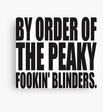 PEAKY BLINDERS Canvas Print