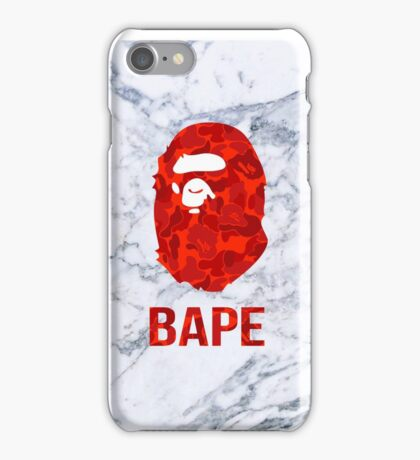 marble bape camo cases iPhone Case/Skin