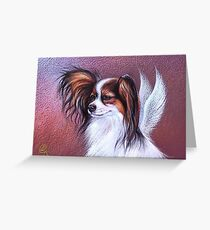 """""""Patient angel """"( Papillon) Greeting Card"""
