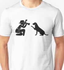 Photographer journalist Hund Unisex T-Shirt