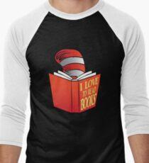 I Love To Read Books Men's Baseball ¾ T-Shirt