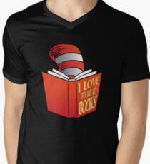 I Love To Read Books Mens V-Neck T-Shirt