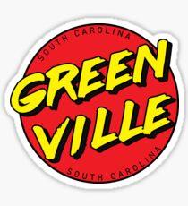 Greenville South Carolina Retro Sticker